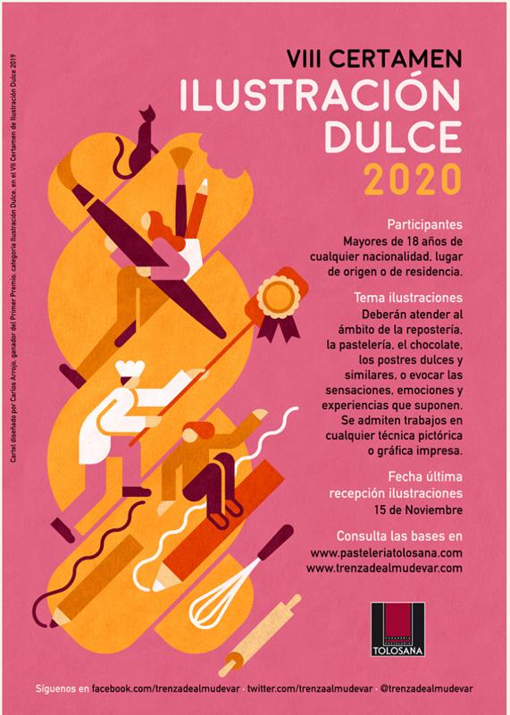Cartel promocional de la nueva edición de ilustración Dulce