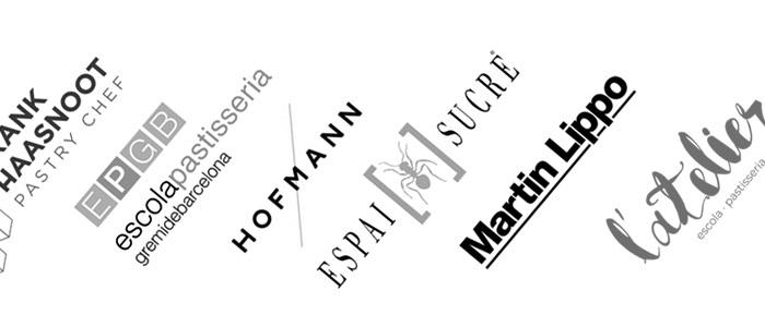 Logos de las escuelas incluidas en los cursos de Books For Chefs