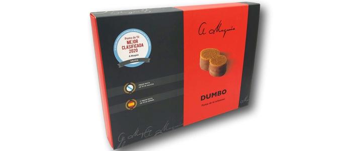 Caja de la pasta de té Dumbo de la Pastelería A Maquía