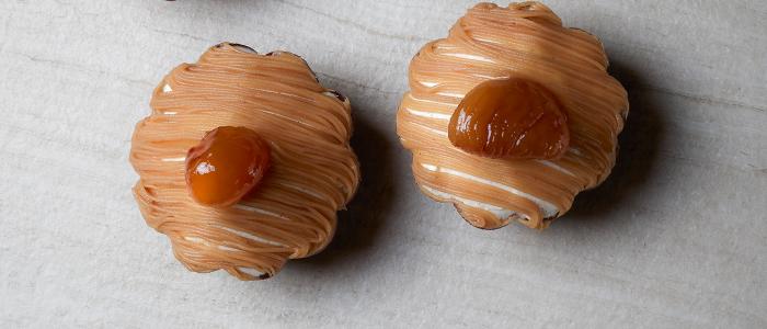 Tartaletas de castañas de Cédric Grolet