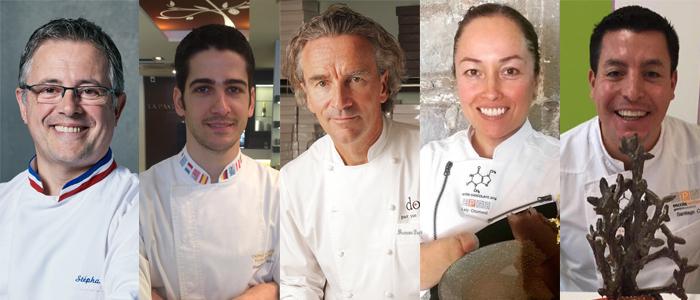 Stéphane Leroux, Josep Maria Rodríguez, Yann Duytsche, Lety Otamendi y Santiago Corral