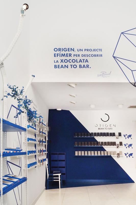Interior de Origen tienda de Ivan Pascual