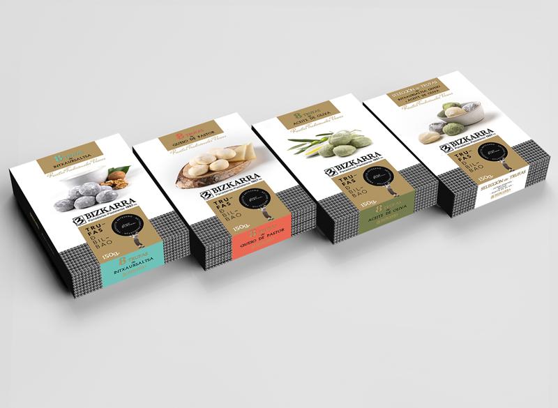 Paquetes de trufas de aceite