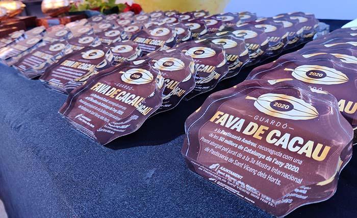 placas de las Favas de Cacao de la edición anterior