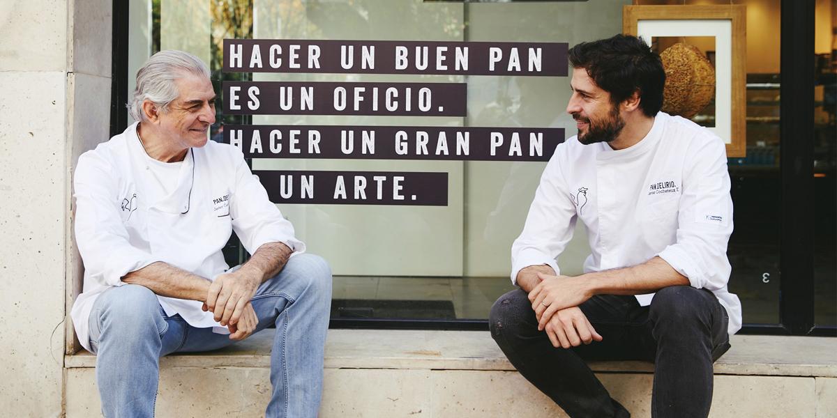 Los fundadores de Pan Delirio Javier Cocheteux padre e hijo