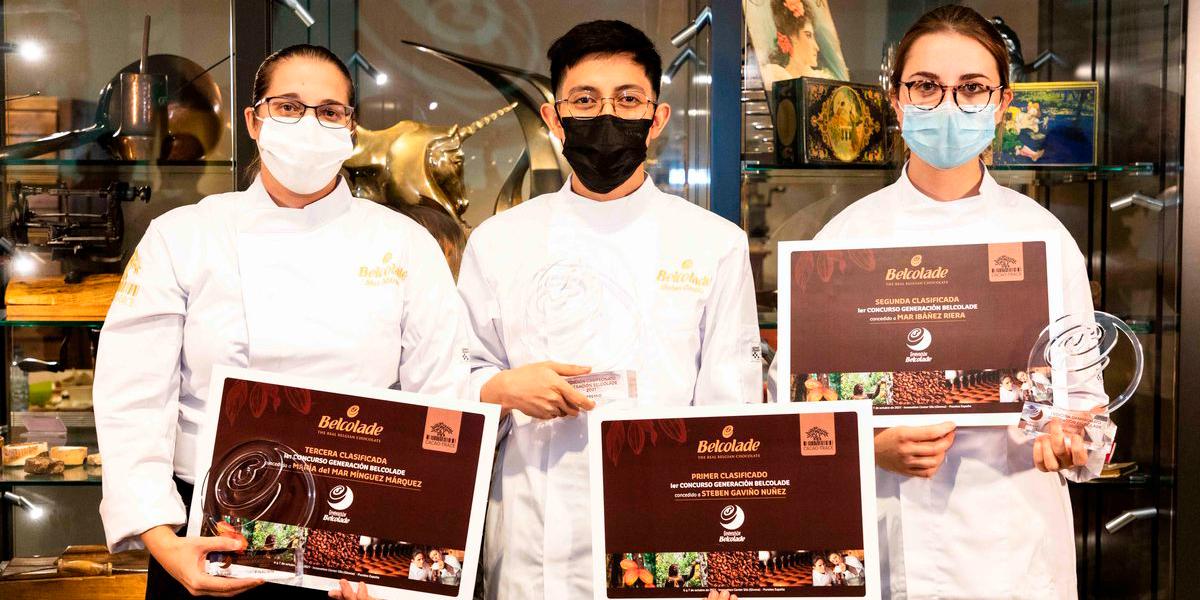 Premiados del concurso mejor maestro chocolatero joven