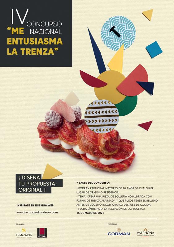 """Cartel de la IV edición del concurso """"Me entusiasma la trenza"""""""