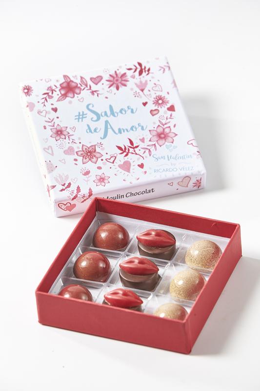 """Caja de bombones """"Sabor de Amor"""" de la pastelería Moulin Chocolat"""