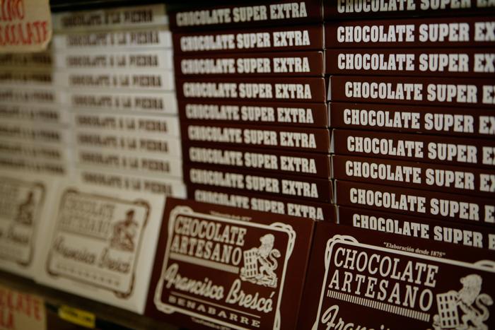 Tabletas de chocolates Brescó