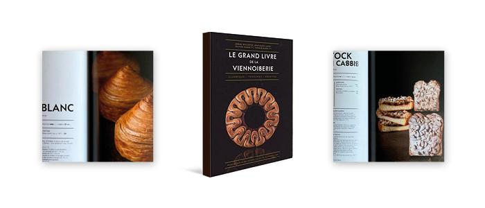 Portada y productos del libro Le grand livre de la viennoisserie