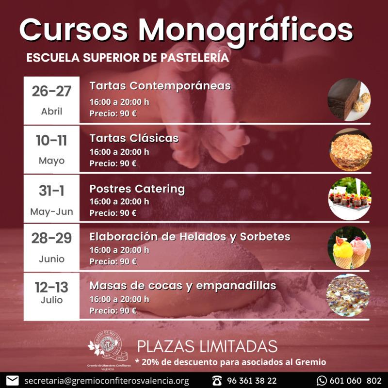 Cursos monográficos de la Escuela de Pastelería de Valencia