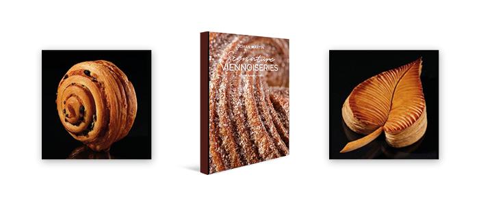 Portada y productos del libro Signature viennoiserie de Johan Martin