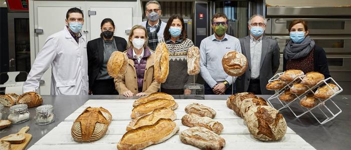 Surtido de panes en la fábrica de Puratos