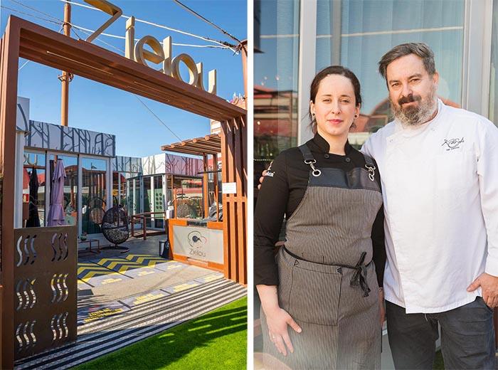 Restaurante Zielou y Kiko Solis y Andrea Muñoz