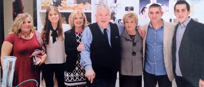 Artur Blaya y familia