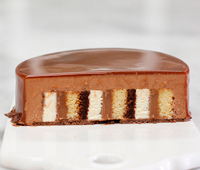 Entremet chocolate y whisky