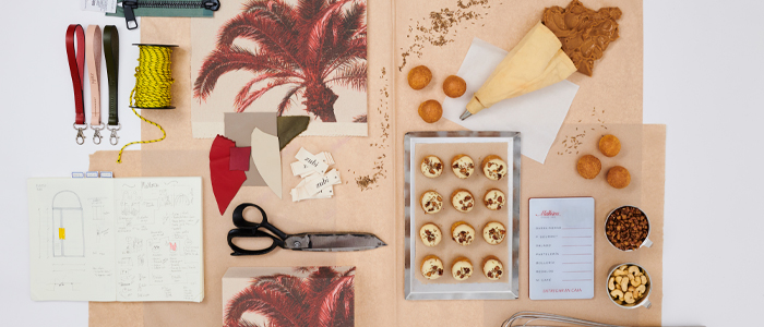 Elementos vinculados en la creación del pastel Mer Zubi