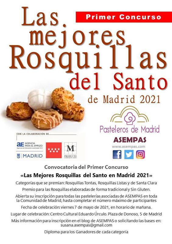 Cartel promocional del concurso Mejores Rosquillas
