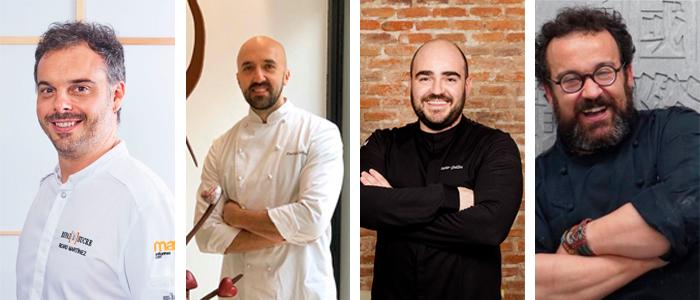Ricard Martínez, Pachi Larrea, Javier Guillén y Carles Mampel
