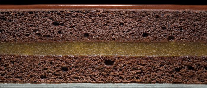 Textura de la tarta sacher