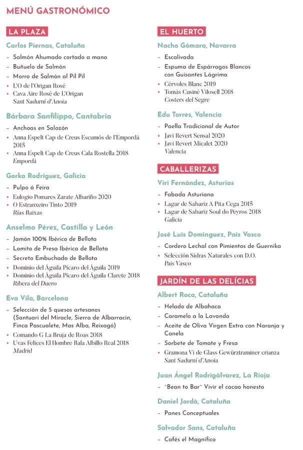 Programa completo del festival gastronómico OríGenes