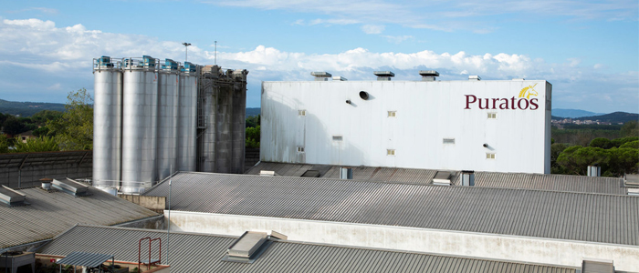 Vista exterior de la fábrica Puratos