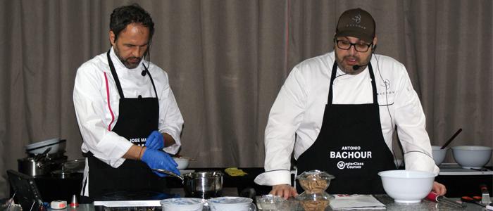 José Manuel Samper y Anronio Bachour durante una masterclass