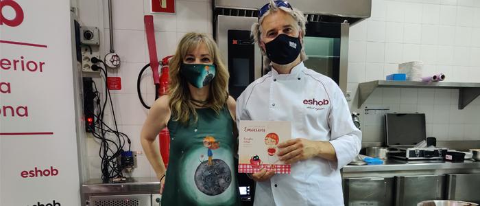 Esther Voltà y Albert Iglésias en la presentación del libro