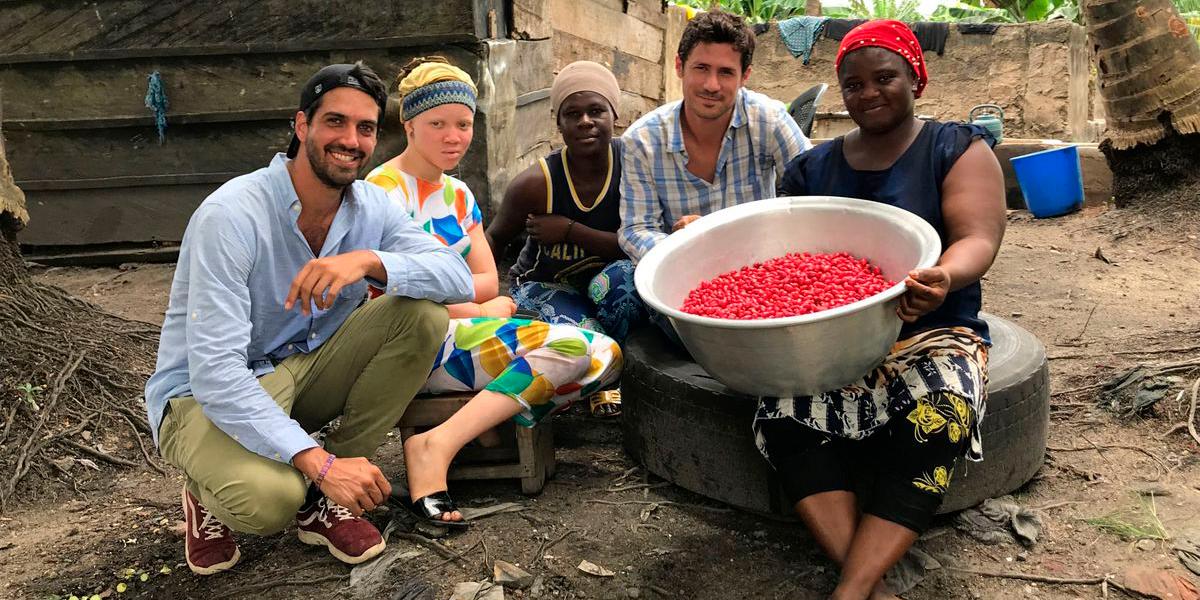 Los fundadores de Baïa Food en África