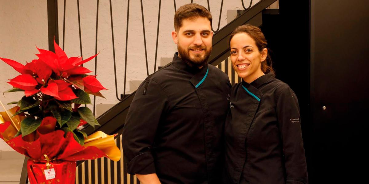 Alex Lera y Alexandra Navarro de la pastelería Sant Llehí