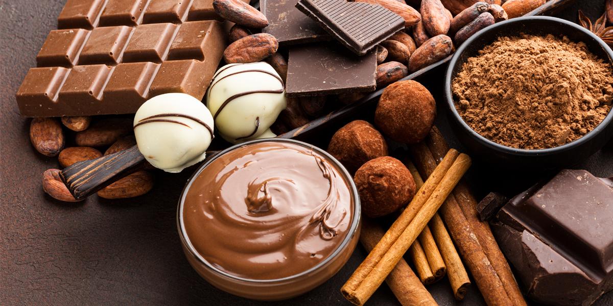 Variedad de productos de chocolate