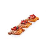 pañuelo de crema de almendra y frutos rojos