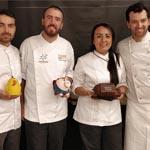 El grupo de chefs encargados de impartir la edición 2018 del curso de Pascua de la EPGB]