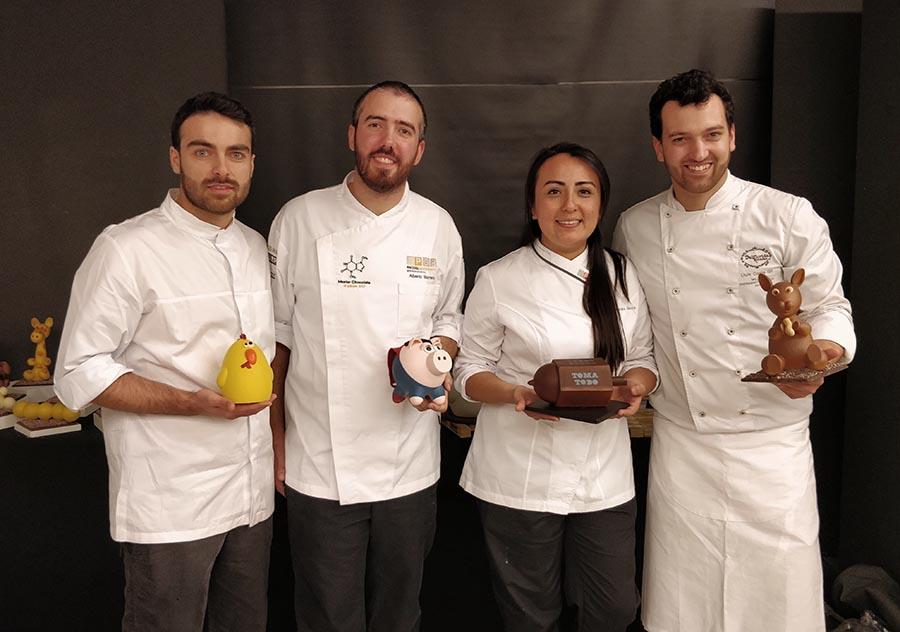 Los protagonistas del curso de Pascua de la EPGB, con Daniel Álvarez a la izquierda
