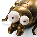 El escarabajo después de aplicar el efecto metalizado cobre