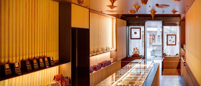 Interior de la pastisseria Ferrer