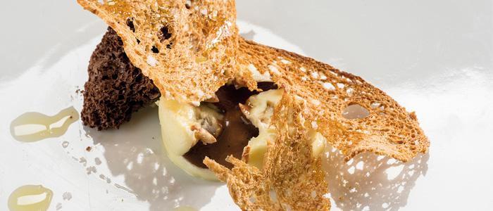 Muestra del pan con aceite y chocolate de Marta Martín
