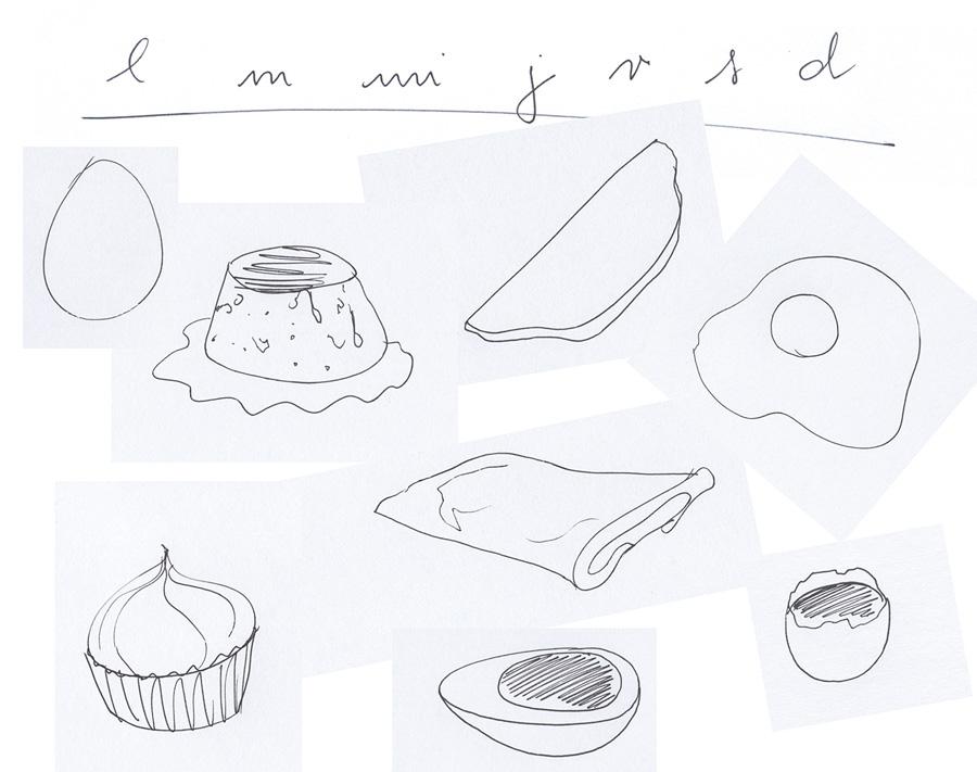Ilustración de Cristina Méndez sobre recetas con huevo