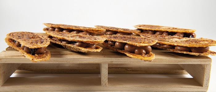 Arlettes de cacao y grué
