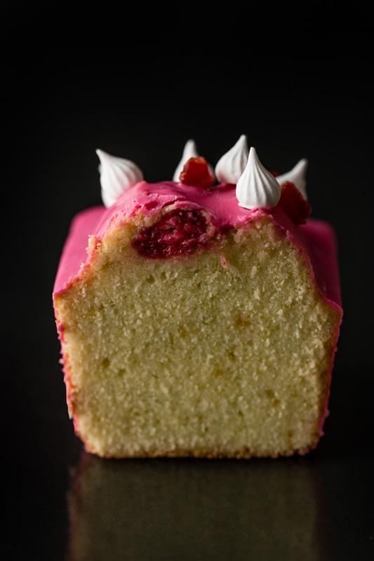Pink cake corte