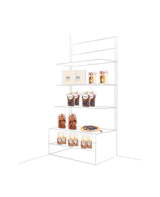 Esquema de omo organizar una estantería