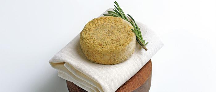 emplatado del queso de cabra y romero de Rafa Delgado