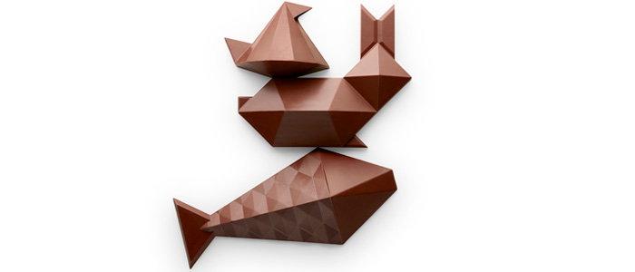 Diferentes creaciones geométricas de Alain Ducasse