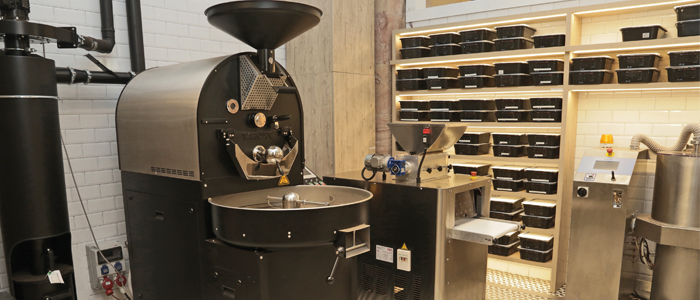 Máquina bean to bar utilizada por Oliver Fernández