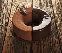 Tarta de cremoso de chocolate y naranja