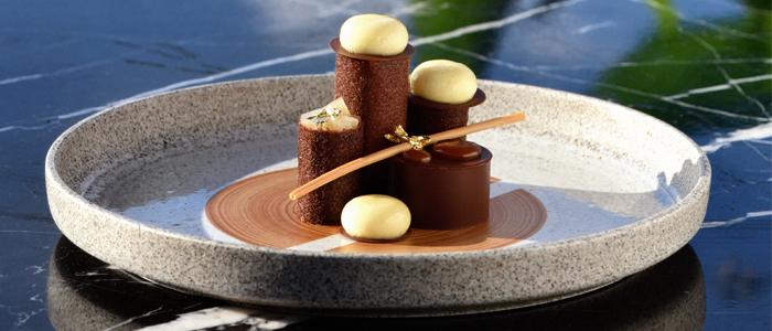 Pera con caramelo especiado de Yusuke Aoki