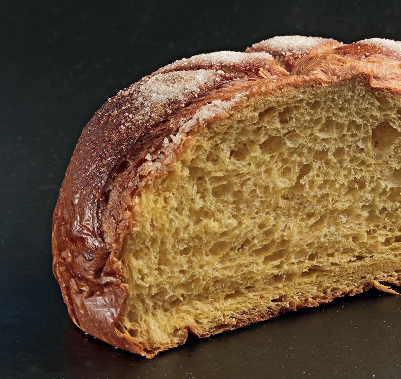 Corte del pan quemao de calabaza