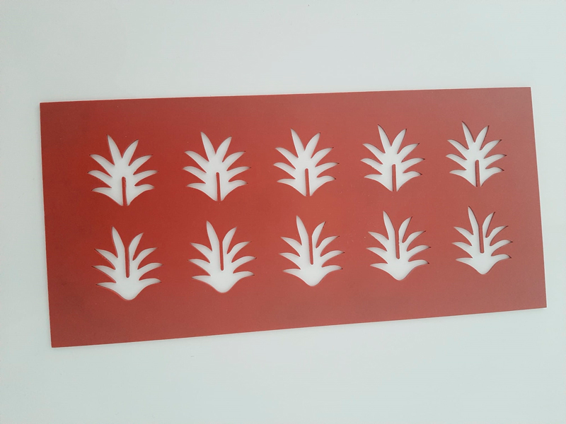 Plantilla de hojas de piña