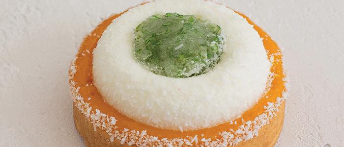 Tartaleta de lima, coco y mango de Laura Vervoort