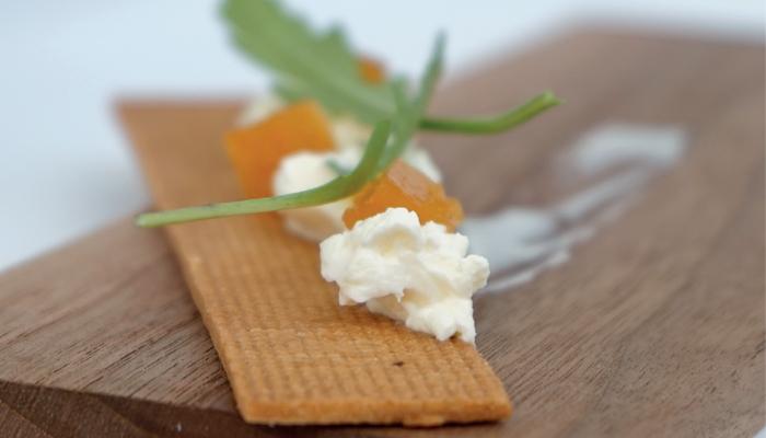 Lokum mandarina, aceite de oliva Empeltre y cheesecake cremoso